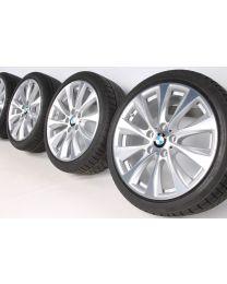 BMW Winterkompletträder 1er F20 F21 2er F22 F23 18 Zoll 387 V-Speiche RDC bicolor