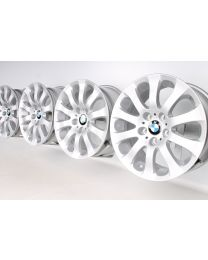 4x Original BMW 3er E90 E91 E92 E93 17 Zoll Alufelgen 159 Sternspeiche Silber