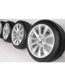 BMW Sommerkompletträder 3er F30 F31 4er F32 F33 F36 18 Zoll 415 Turbinenstyling RDC silber