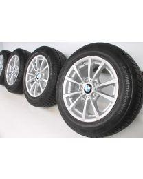 BMW Winterkompletträder 3er F30 F31 4er F32 F33 F36 16 Zoll 390 V-Speiche RDC silber