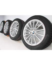 BMW Winterkompletträder 5er G30 G31 18 Zoll 619 Vielspeiche RDC silber
