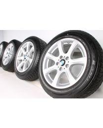 BMW Winterkompletträder 3er GT F34 17 Zoll 394 Sternpeiche RDC silber