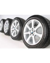 BMW Winterkompletträder 3er F30 F31 4er F32 F33 F36 17 Zoll 394 Sternspeiche RDC silber