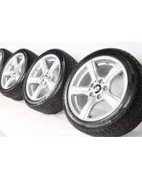 BMW Winterkompletträder Z4 E89 17 Zoll 290 Sternspeiche RDC silber