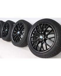 BMW Winterkompletträder 3er F30 F31 4er F32 F33 F36 18 Zoll 405 M Performance Doppelspeiche RDC schwarz