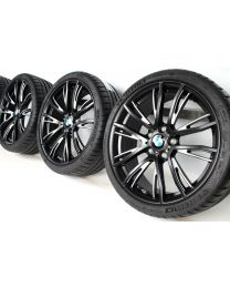 BMW Sommerkompletträder 1er F20 F21 2er F22 F23 19 Zoll 624 M Doppelspeiche RDC bicolor