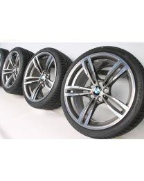 BMW Winterkompletträder M2 F87 19 Zoll 437 M Doppelspeiche RDC bicolor