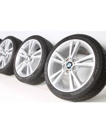 BMW Winterkompletträder 1er F20 F21 2er F22 F23 18 Zoll Doppelspeiche 385 RDCi silber