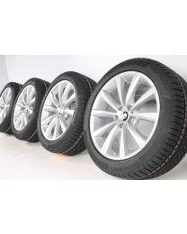 BMW Winterkompletträder 5er G30 G31 18 Zoll 642 V-Speiche RDC silber