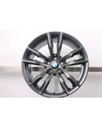 ORIGINAL BMW X5M F85 / X6M F86 20 Zoll Alufelge für die Hinterachse 611M Doppelspeiche (Orbit Grey)