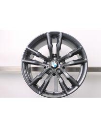 1x Original BMW X5M F85 X6M F86 20 Zoll Alufelge 611M Doppelspeiche (Orbit Grey)